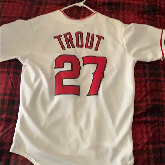 official photos 953f2 c4912 Mike Trout Angels jersey